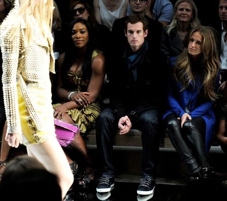 Serena Williams Andy Murray Burberry Show 2 g
