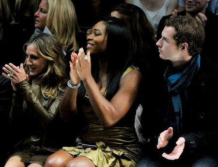 Serena Williams Andy Murray Burberry Show 4 g