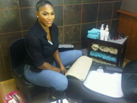 Serena Williams Prepares for Oprah tw