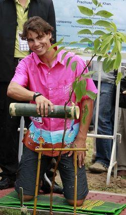 Rafael Nadal Bangkok.10 Tree Planting 2 r
