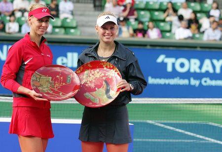 Caroline Wozniacki Elena Dementieva Tokyo.10 Finalists g