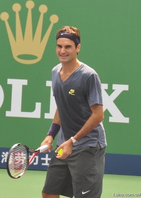 Roger Federer Shanghai.10 Practice 1
