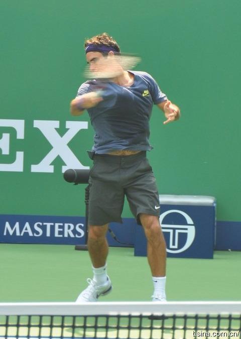 Roger Federer Shanghai.10 Practice 2