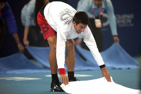 Novak Djokovic Beijing.10 Rain Delay g