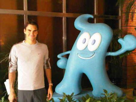 Roger Federer Shanghai.10 World Expo Mascot Haiboa