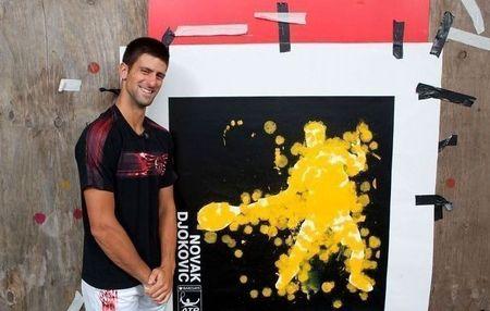 Novak Djokovic London.10 Paintball 1 chris cone