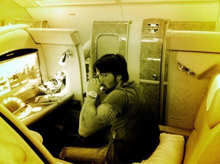 Janko Tipsarevic First Class Flight