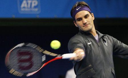 Roger Federer Stockholm.10 Practice r