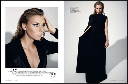 Vera Zvonareva Russian Harpers Bazarre 2