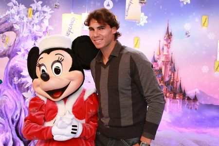 Rafael Nadal with Minnie Mouse