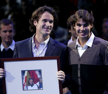 Rafael Nadal Carlos Moya London O2.10 Retirement