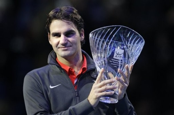 Roger Federer London O2.10 1st RR Match Win 1 ap