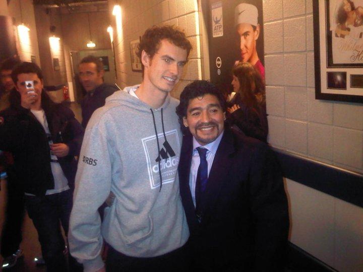 Andy Murray London O2.10 with Maradona