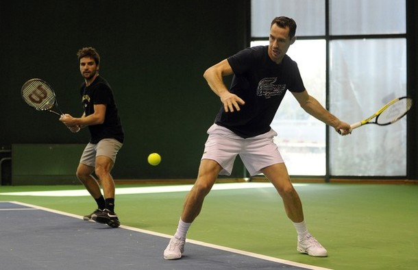 French Davis Cup Final.10 Practice 2 g