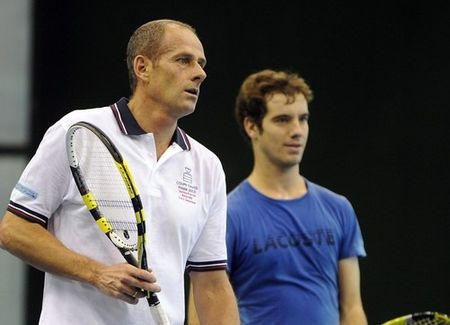French Davis Cup Final.10 Practice 1 g