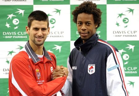 Davis Cup.10 Final Monfils and Djokovic
