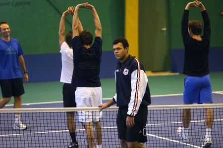 French Davis Cup.10 Team Practice for Final 5 g