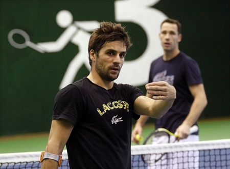 French Davis Cup Final.10 Practice 1 r