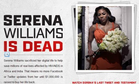 Serena Williams is Dead - World AIDS Day