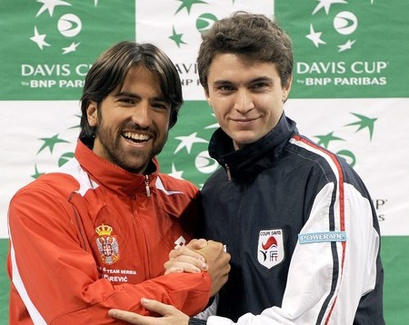 Davis Cup.10 Final Tipsarevic and Simon