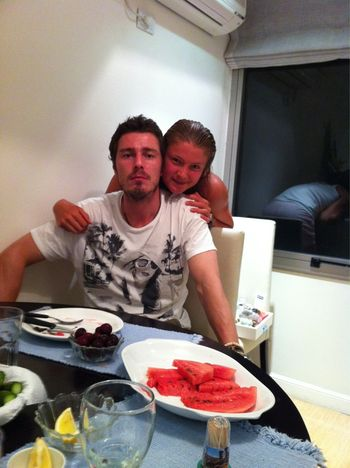 Dinara and Marat Safin Have Dinner