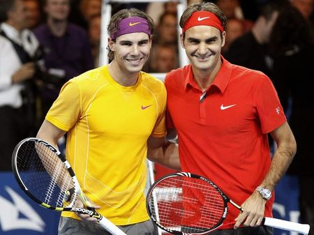 Rafael Nadal Roger Federer Zurich Exo.10 Prematch 1