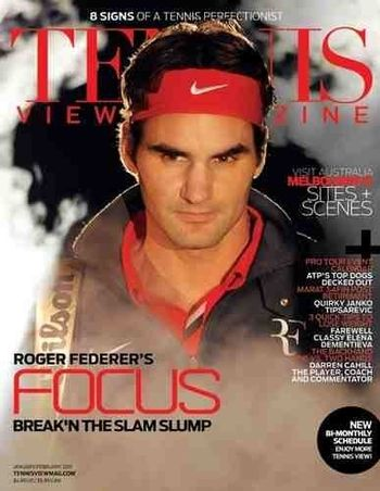 Roger Federer Tennis View Mag Jan.11