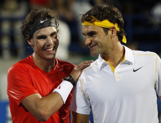 Rafael Nadal Roger Federer Abu Dhabi.11 Final 1 r