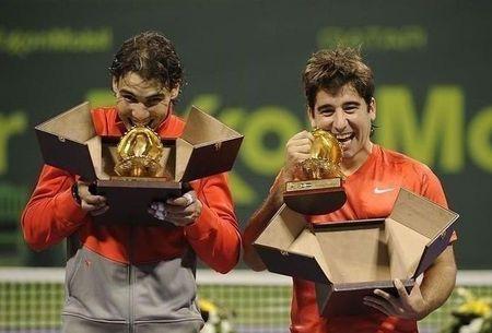 Rafael Nadal Marc Lopez Doha.11 Doubles Winners