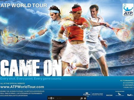 ATP Game On Rafa Roger Andy