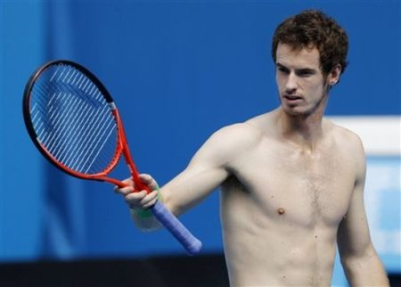 Andy Murray AO11 Shirtless Practice 1 ap