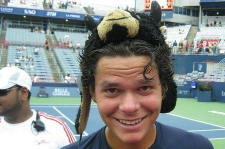 Milos Roanic San Jose.11 Weird Hat