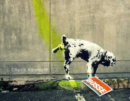 Copyright of Banksy Dog 2