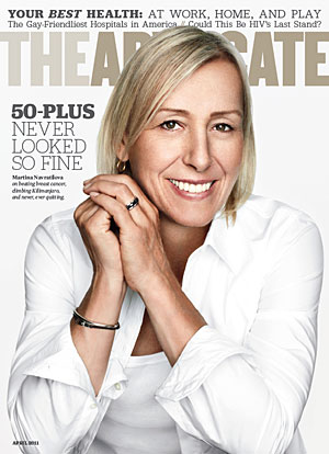 Martina Navratilova Advocate Cover