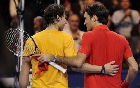 Rafael Nadal Roger Federer Zurich Exo.10 Prematch 2