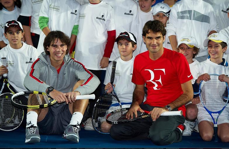 Rafael Nadal Roger Federer Madrid Exo.10 PreMatch 1