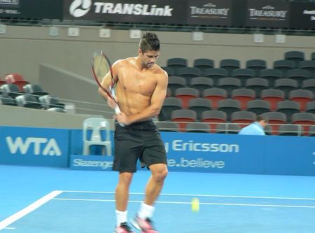 Fernando Verdasco Brisbane.11 Shirtless Practice
