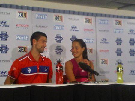 Novak Djokovic Ana Ivanovic Hopman Cup Presser