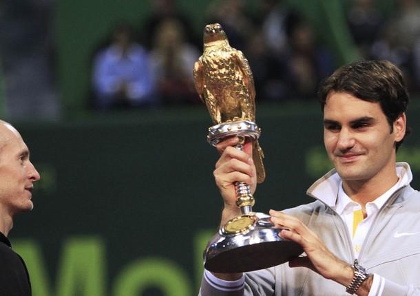 Roger Federer Doha.11 Winner r
