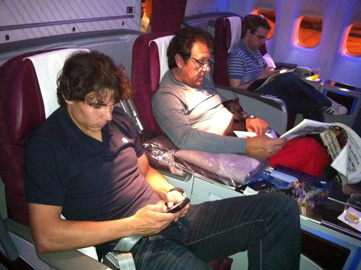 Rafael Nadal First Class Doha to Melbourne fb