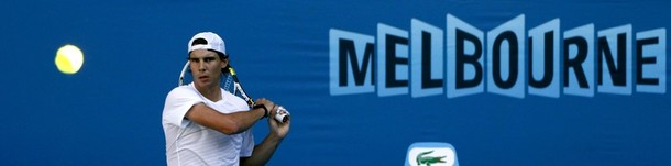 Rafael Nadal AO11 Practice Melbourne Sign r