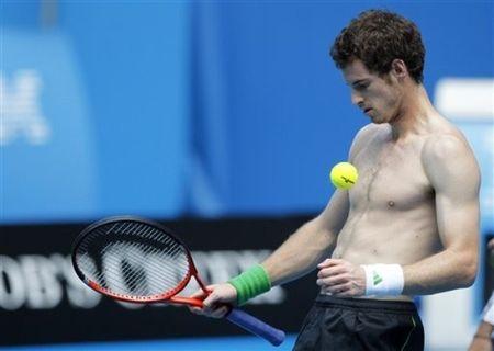 Andy Murray AO11 Shirtless Practice 2 ap
