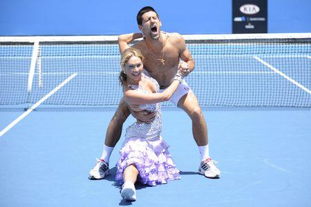 Novak Djokovic AO11 Goofing Around