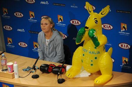 Caroline Wozniacki AO11 Qf Win g