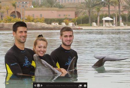 Novak Djokovic Dubai.11 Dolphins 1