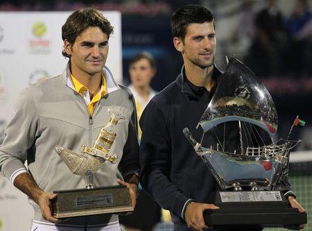 Novak Djokovic Roger Federer Dubai.11 Final g