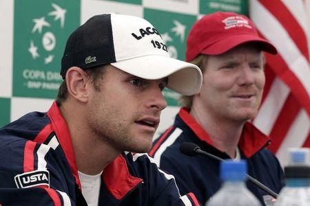 Andy Roddick Jim Courier Davis Cup 1st Round 2011 Presser