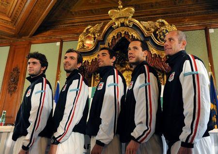 France Team Davis Cup 1st Round 2011 Presser