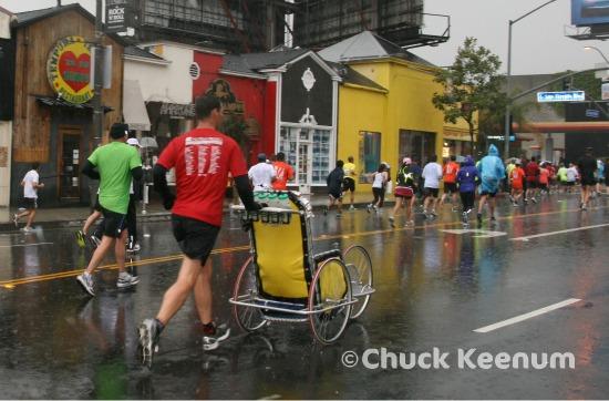 9 LA Marathon Runners on Sunset