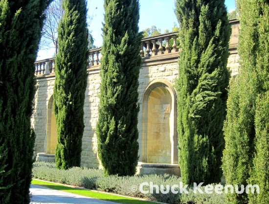 12 Greystone Mansion Lawn of Statue